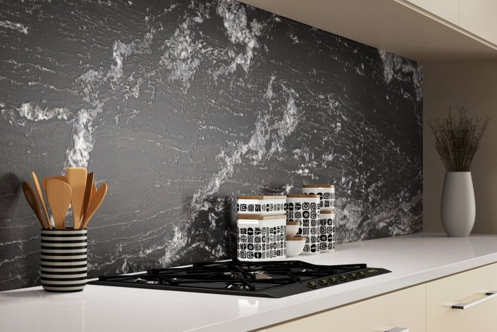 Küche - Rückwand aus Granit Senza