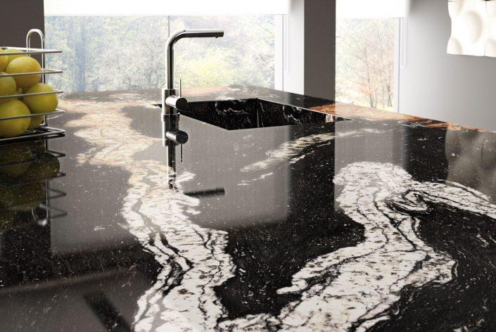 Küche - Arbeitsplatte aus Granit Senza